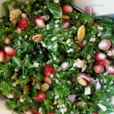 Trader Joe's Kale ケールとキヌアとザクロのサラダボール #Recipe #kale #salad #traderjoes