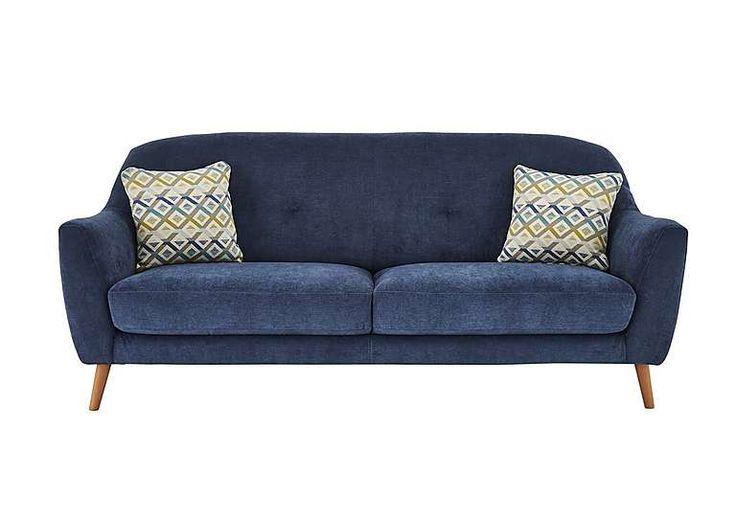 Kurve 3 Seater Fabric Sofa, £499
