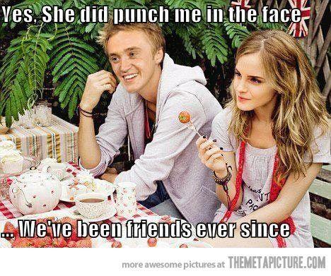 I wonder what Draco/Hermione babies would look like? lol