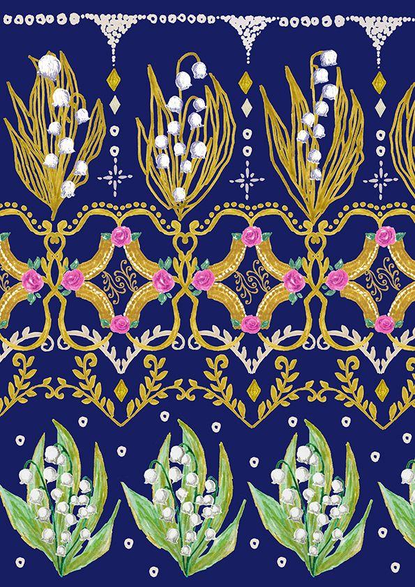 #packagedesign #パッケージ #デザイン #お花 #flower #柄 #animal #pink #green #plants #自然 #木 #illustration #kanakobayashi #三角 #art #fashion #すずらん