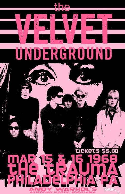 Velvet underground performing in a city I love on my birthday...too bad it's negative 19 birthdays away from mine.