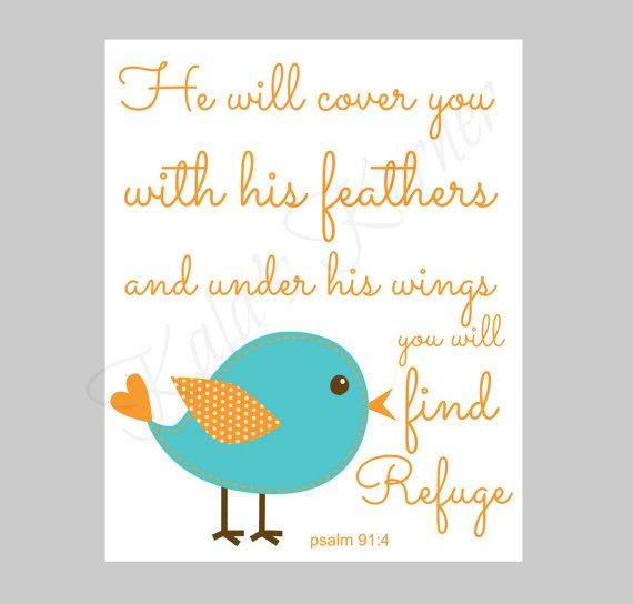 bird nursery art print decor bible verse nursery by KalasKorner, $12.00