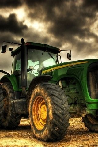 take me for a ride on your big green tractor.