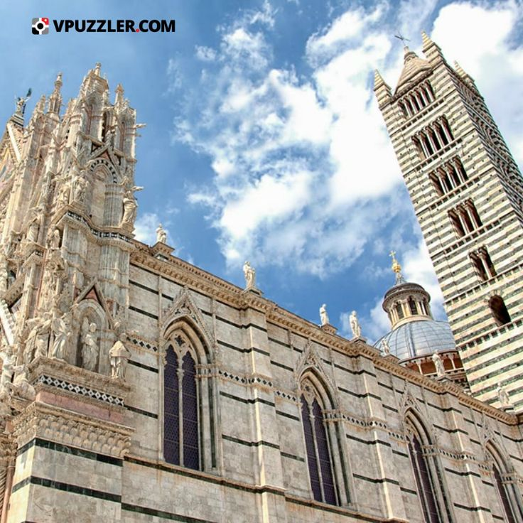 Siena #Italy #architecture #sky #clouds