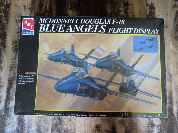 "AMT ERTL #8709 McDonnell Douglas F-18 ""HORNET"" The Blue Angels 4 PLANE 1:72 Kit #AMTERTL"