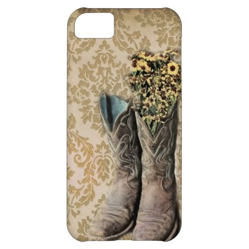 vintage cowboy boots western country cover for iPhone 5C