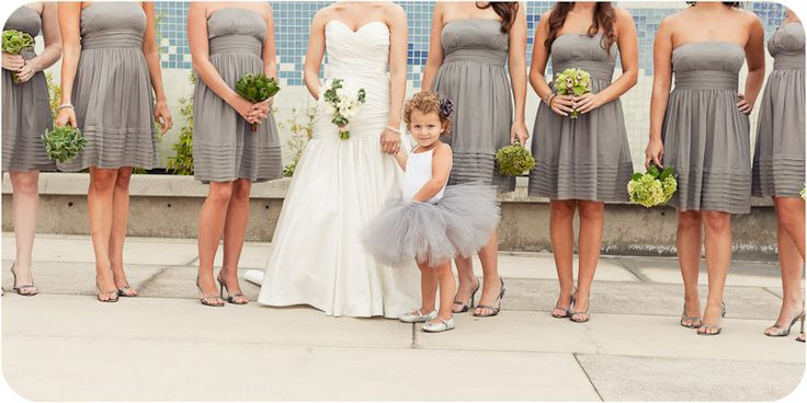 love the tutuFlower Girls Dresses, Little Girls, Flower Girls Tutu, Bridesmaid Dresses, Little Flower, The Dresses, Flower Girl Tutu, Grey Dresses, Girls Outfit