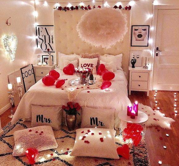 Quarto decorado para namorada