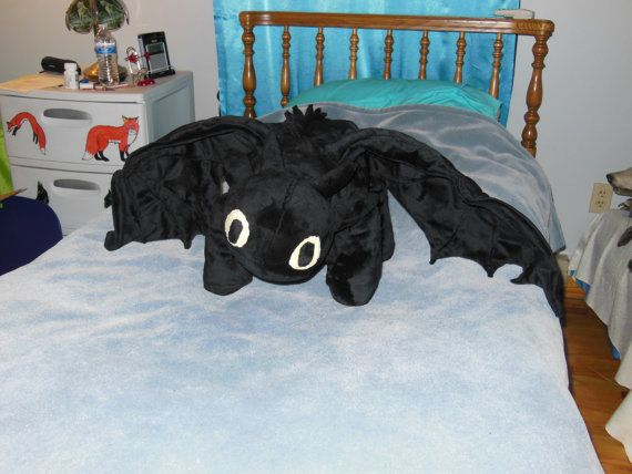 2abcfe66edd Giant Custom Toothless Night Fury How to Train Your Dragon Plush You Pick  Color