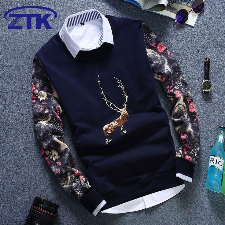 Zafraa Navy Blue Printed Sweater