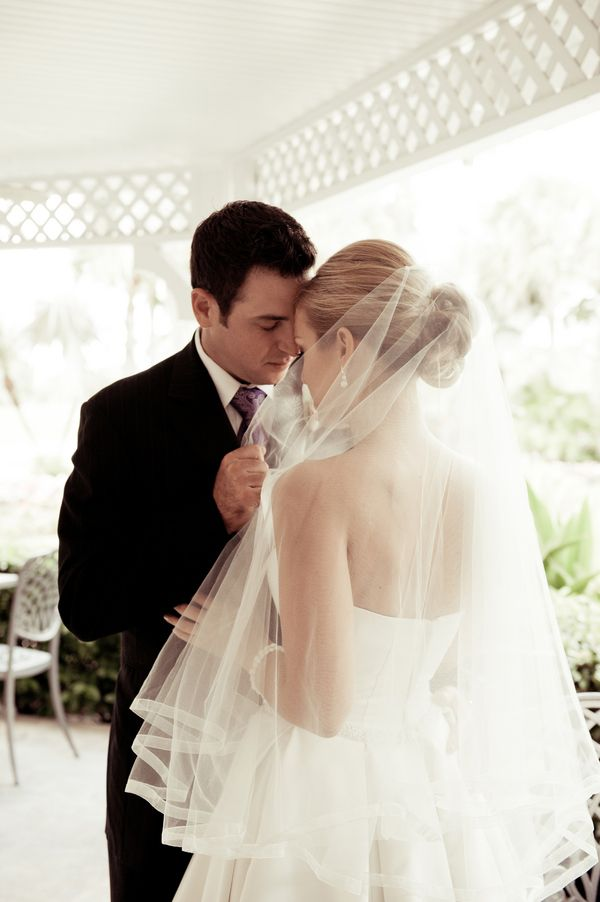 Honestly love the way the veil looks!Into You Photo: Palm Beach Photography