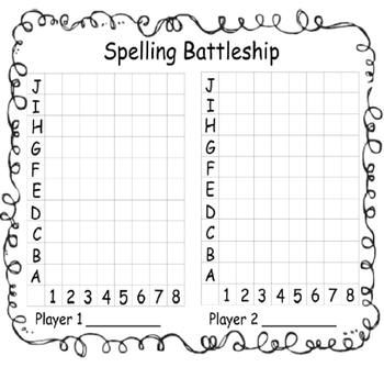 Are you looking for a fun FREE way to encourage your students to practice their spelling words? Well, here it is! Spelling Battleship is so much fun your students won't even realize they are practicing their spelling words. All pages are in black and white so they will be easy to copy.
