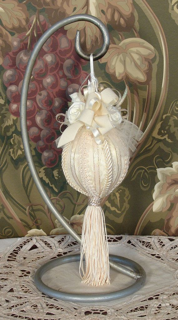 Cream Victorian Hanging Christmas Ornament  by VictorianKeepsakes, $19.95