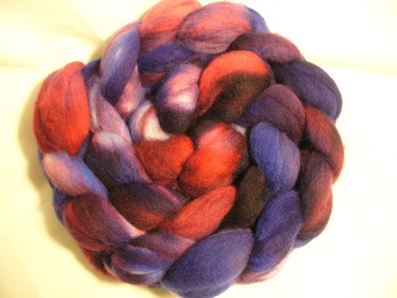 Kettle Dyed Spinning Fiber Roving Merino Top Wool by RhodaBear