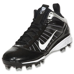 This baseball cleat is high top for maximum ankle support, full-length Nike  Air