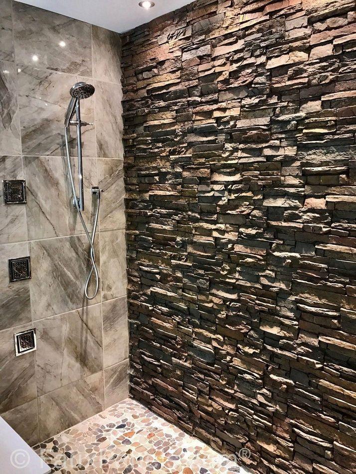 75 Incredible Bathroom Wall Panels Brighten Up Your Bathroom With Bathroom Wall Pane Bathroom Wall Panels Stone Shower Walls Waterproof Bathroom Wall Panels