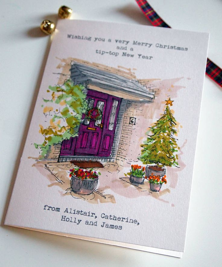 personalised christmas cards by homemade house | notonthehighstreet.com