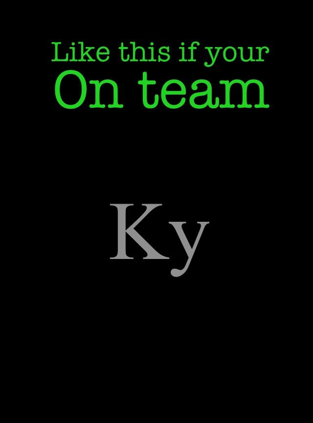 Repin this if your on team ky (matched series)