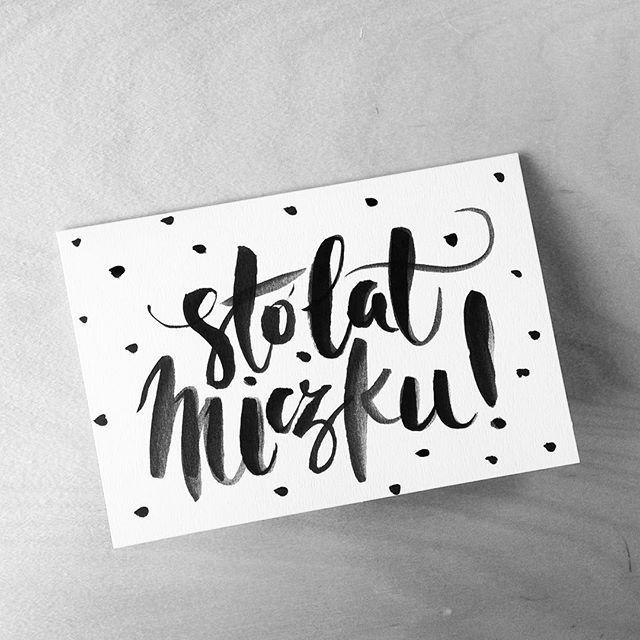 Last week's bday card for @mikolajmiki 🎉 🎂🍾 #stolat #polish…
