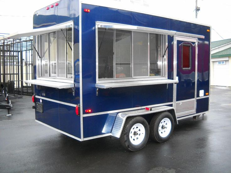BestBuilt Trailers - Concession Trailers - in blue!