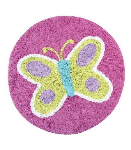 Ταπέτο μπάνιου Butterfly 100% βαμβάκι διάμετρος 80cm