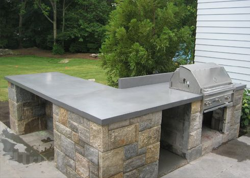 Concrete Countertops - I was thinking these would be cool in the kitchen, and even cooler outside!