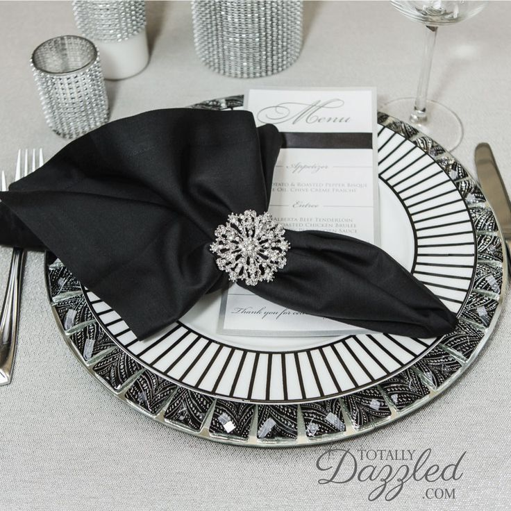 Click here!!!  Add major bling to your wedding tables for a great price! These HUGE brooch napkin rings are only $2.75.  Visit totallydazzled.com today!