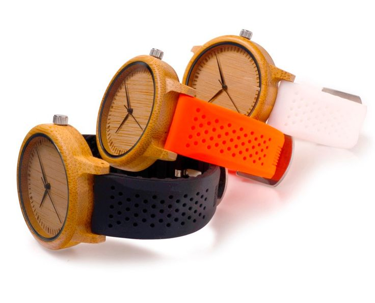 Casual Bamboo Wooden Watch Wood Dial Soft Silicone Band 3 Colors for Choice Quartz Watches for Men Women as Gift by TAKIPARK on Etsy