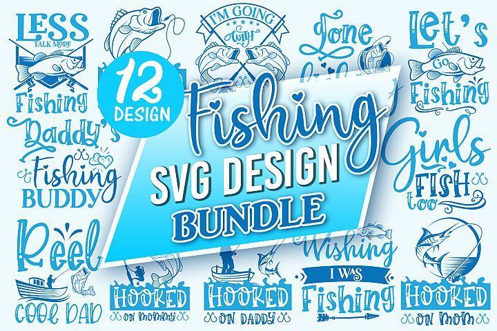 Download Fishing Svg Design Bundle Designfarm Crafters Svgs In 2020 Fishing Svg Design Bundles Svg Design