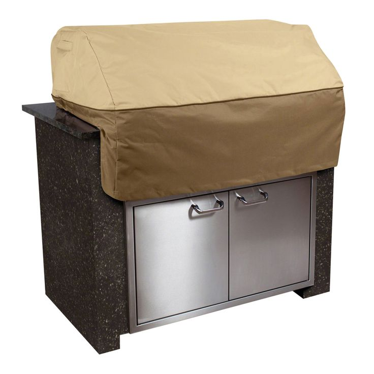 The Veranda Large Island Grill Cover by Classic Accessories will keep your outdoor barbeque from damage by the weather. Be prepared for bad weather or the winter with the barbecue cover. Other patio covers are available on our website.   #barbecue #patio #bbq #grilling #storage #outdoorliving