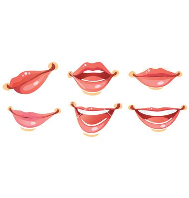 Sexy woman smile lips vector on VectorStock