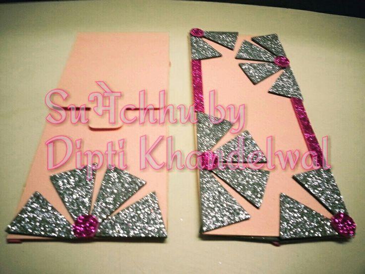 Wedding Envelope Handmade envelope  #glitter #paperwork #jaipur #rajasthan #iphone6 #delhi  #quilling #artwork #papercraft  #pink #babypink #salmon  #girly #order #coc #f4f  #handmade #hardwork #pearl #allthatglitters #artist #pinks #beautiful #designed #alluring #artlovers #jaipur #nikon #dslr #artsy #artlovers #craftbuzz