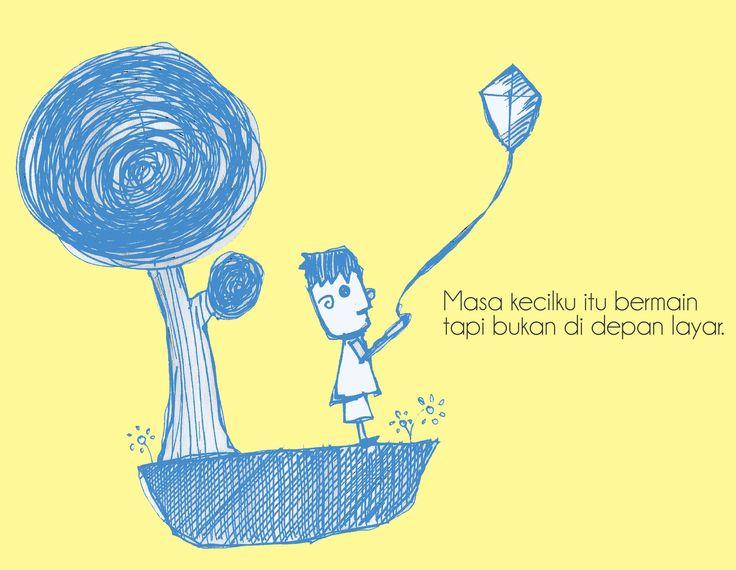 Masa kecil #art #drawing #artwork #kids #illustration #illustrator #pen #story #doodle