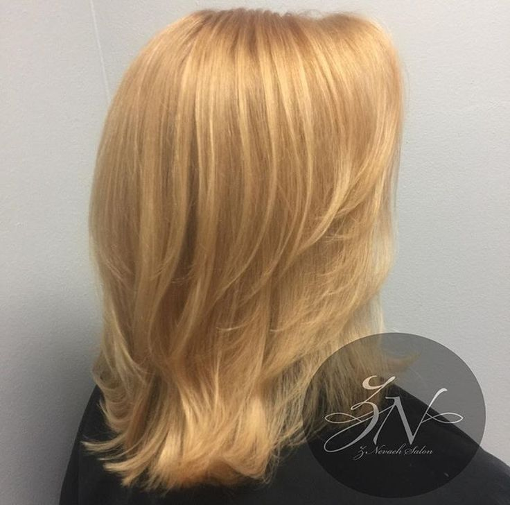 Copper Gold Color & French Layered Haircut @znevaehsalon #haircut #salon #knoxvilletn