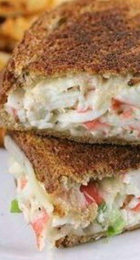 Crab Grilled Cheese~