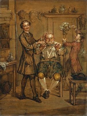 The Barber's Shop  Date between 1760 and 1769