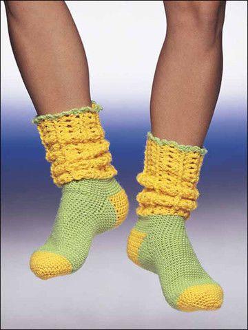 Maggie's Crochet · Learn to Crochet Socks #crochet #pattern #socks #colorful #cute #warm #fashion