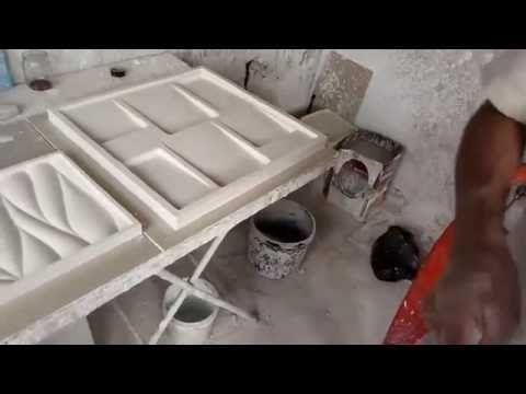 Como fabrica e desformar placas de gesso 3D 50x50 - YouTube