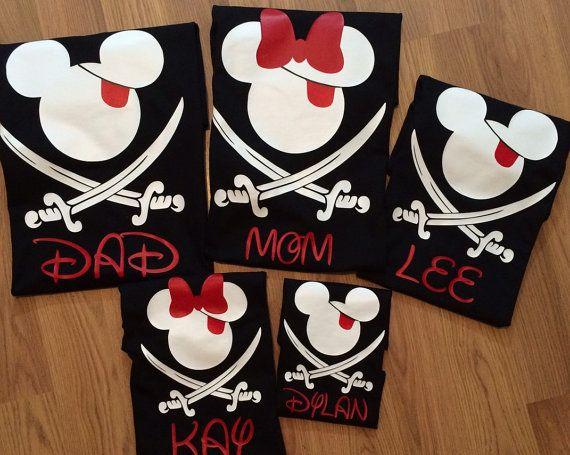 Disney #1 - camisas piratas de Disney familia