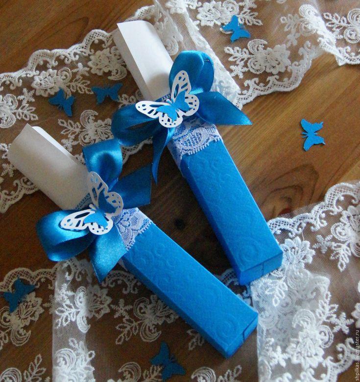 """Купить Приглашение на свадьбу """"Бирюзовые бабочки"""" - бирюзовый, приглашения на свадьбу, пригласительные, приглашение"""