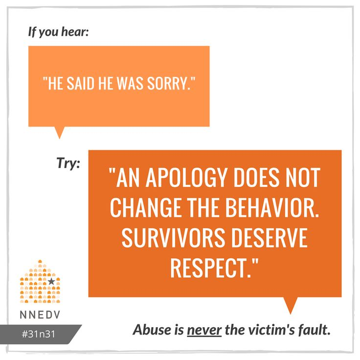 10/23: Without changed behavior, an apology does not give survivors the respect they deserve. #31n31 #DVAM2016