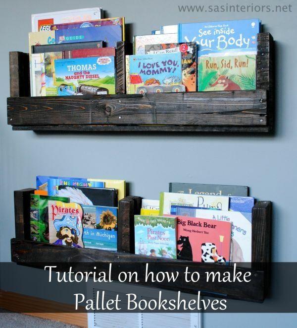 bibliothèque à livres en palette