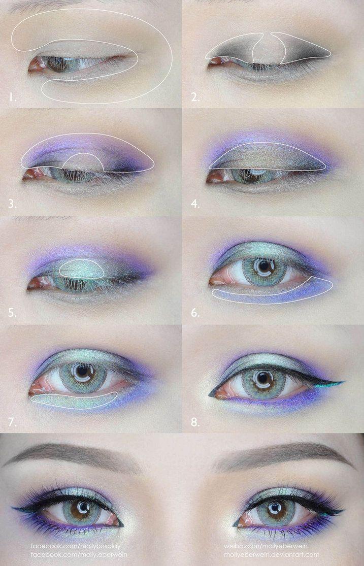 Green and Purple Eyes Makeup Tutorial by mollyeberwein on DeviantArt