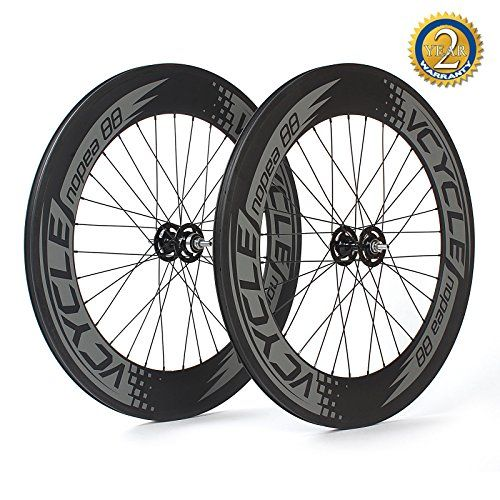 VCYCLE Nopea 700C Carbon Clincher Track Wheelset 88mm Fixed Gear Single Speed 32 Holes * Click image to review more details. This is an Amazon Affiliate links.