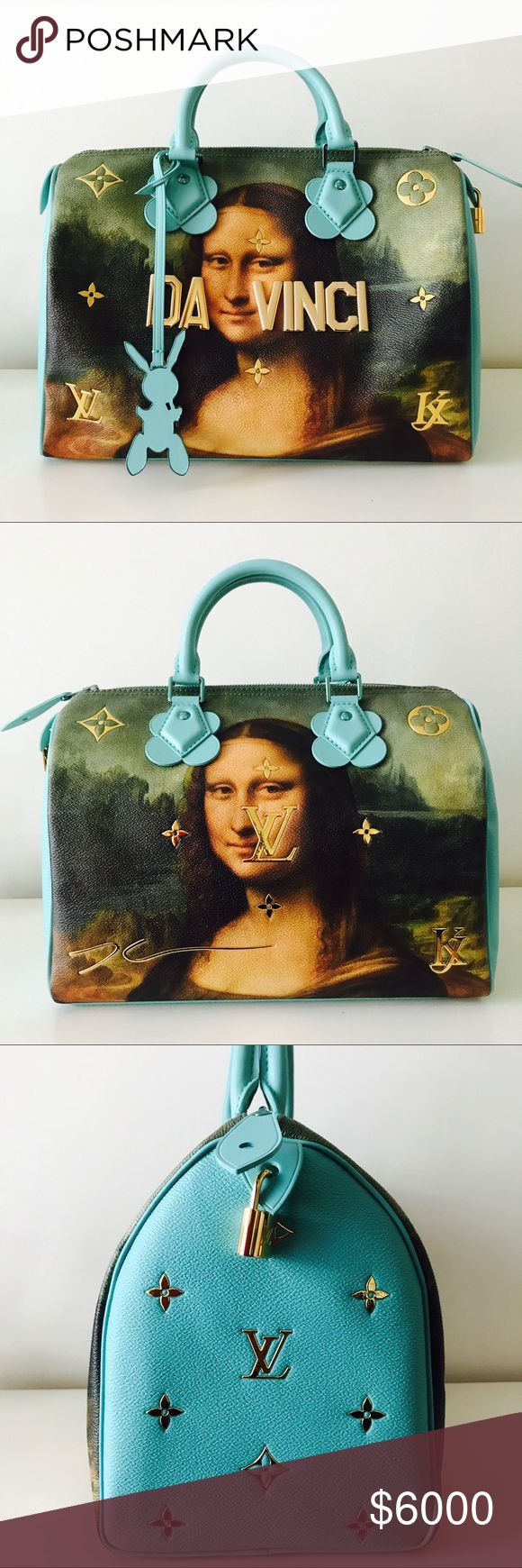 Louis Vuitton Masters collection Speedy 30 Super cool and rare Louis Vuitton x Jeff Koons Masters collection Da Vinci Mona Lisa Speedy 30. Sold out everywhere.  Brand new with original dustbag. Louis Vuitton Bags Satchels
