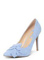 Womens Blue 'Gotcha' Twisted Bow Court Shoes- Blue