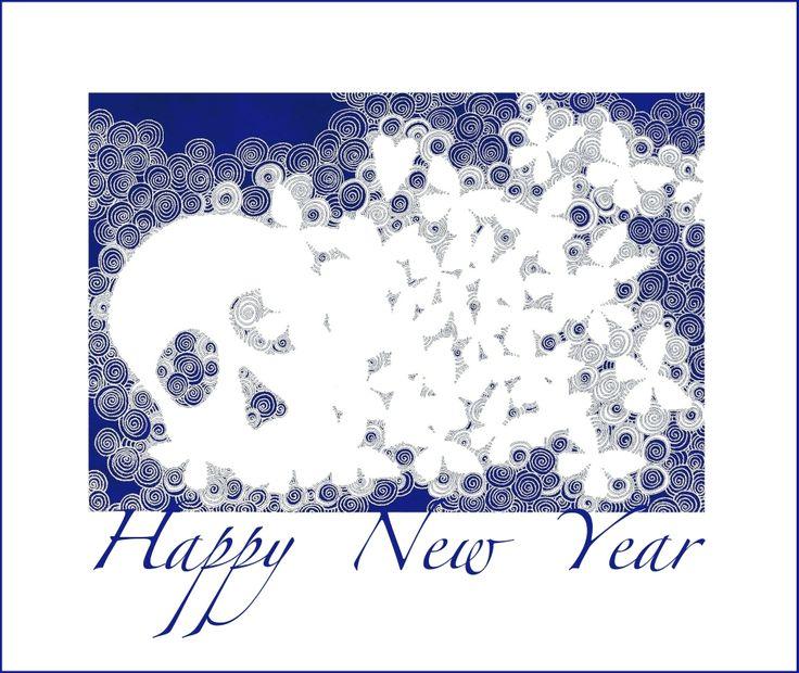 """andrea mattiello """"Happy New Year 2014"""" #art #arte #contemporanea #artista #emergente #newyear #2014"""