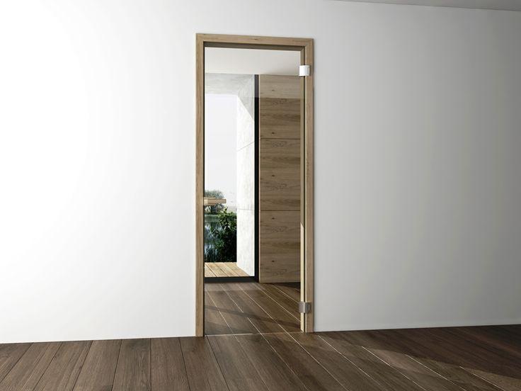 interierove dvere HANAK na mieru, sklenene dvere so zarubnou zo svetlej dyhy