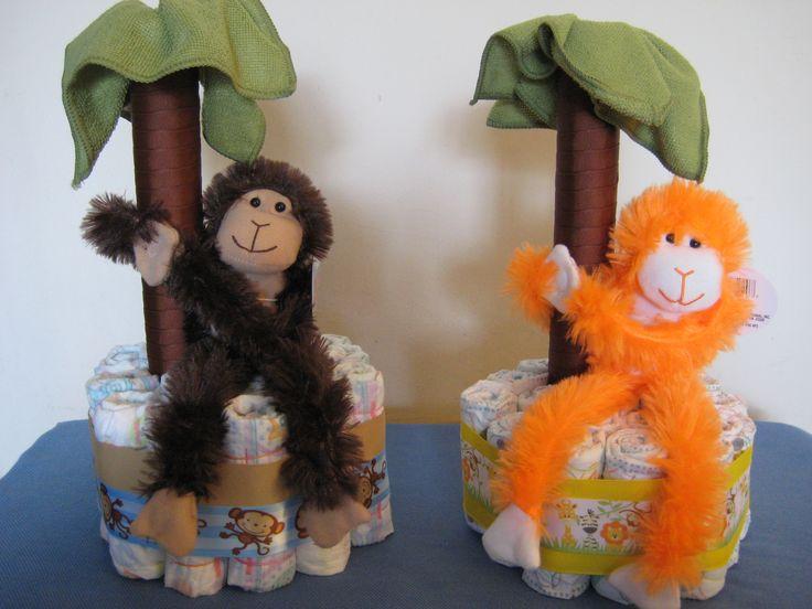 Monkey Diaper Cakes