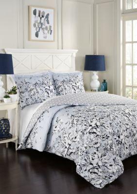 Marble Hill  Marble Hill Danica Reversible 3-Piece Comforter Set - River Blue - Queen